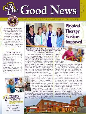 cover page image of hospital newsletter
