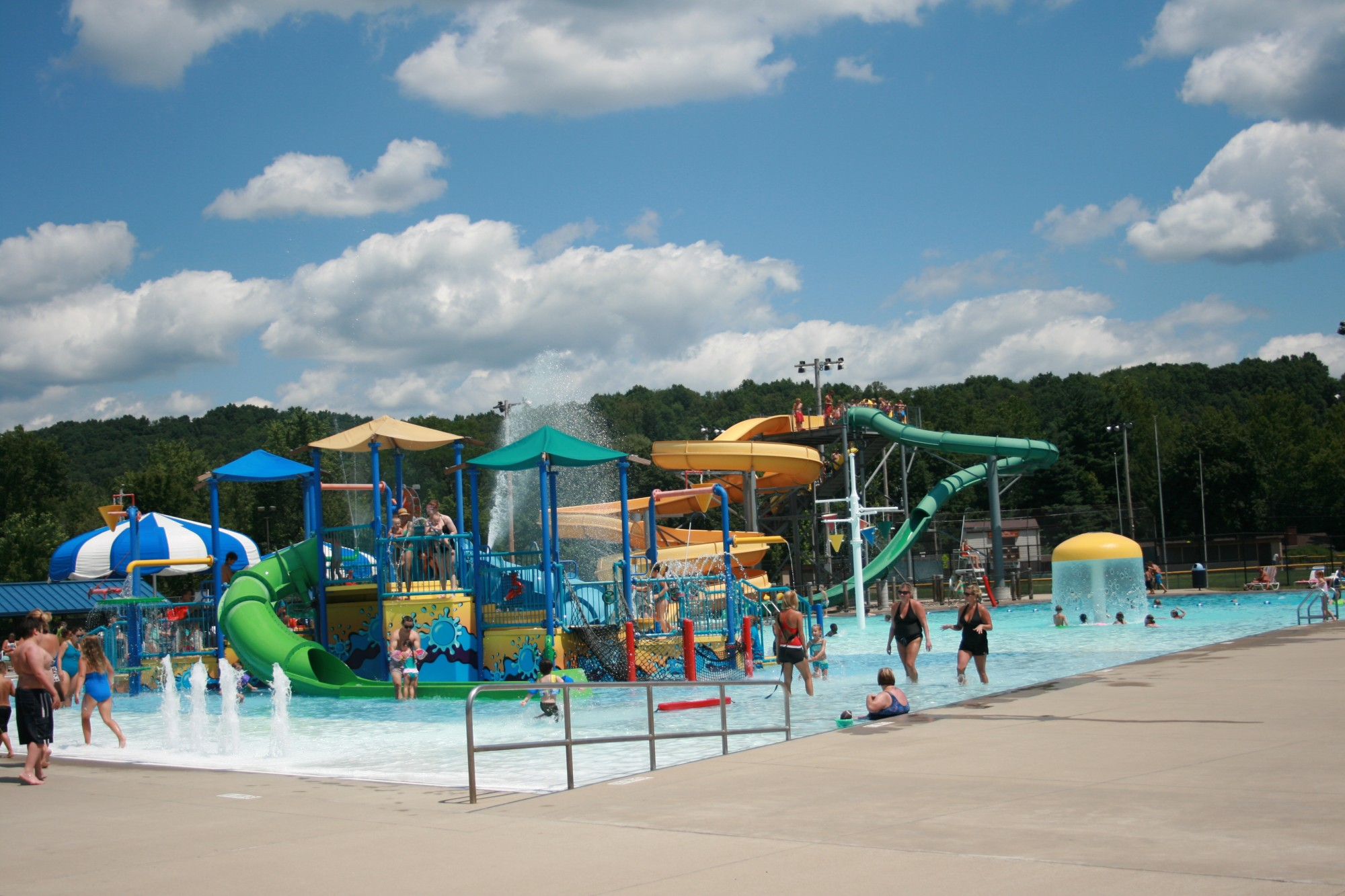 uhrichsville water park, kids, play, water, fountains, trinity